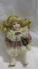Rare Collectible Porcelain Doll 12.5in. Baby Back Treasures From Mann's Dolls