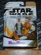 Star Wars Cartoon Network Clone Wars Mace WIndu action figure sealed