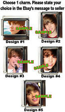 Justin Bieber Custom Italian Charm choose from 5 cute!