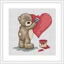 Bruno The Bear - Valentine For Bianca Cross Stitch Kit