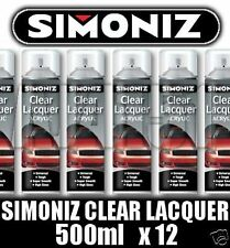 12 Simoniz Spray Paint Aerosol 500ml Can Clear Lacquer