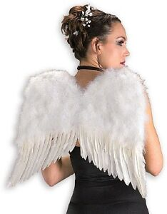 Deluxe White Feather Angel Wings
