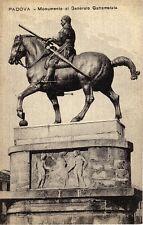 Vintage GEN GATTAMELATA Monument Padova, Italy RPPC S6