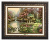 Thomas Kinkade - Garden Of Prayer – Canvas Classic (Aged Bronze Frame)