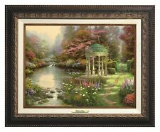 Thomas Kinkade Garden Of Prayer 12 x 16 Canvas Classic (Aged Bronze Frame)