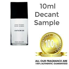 Mens Issey Miyake L'EAU D'ISSEY INTENSE 10ml Decant Sample Glass Spray Bottle