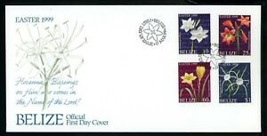 Belize Scott #1107-1110 COVER Flowers Easter 1999 $$ TH-1