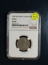 1939 French Indo China Twenty Cents NGC AU58 NO DOTS 20C Coin PRICED TO SELL!