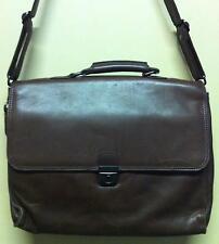 HERITAGE Brown Leather Briefcase Bag Laptop Attache Case Messenger SHOULDER BAG