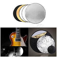 80cm 5 in 1 Photo Multi Reflector Panel Bag Photography Collapsible Disc Light