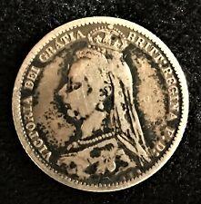 1888 Great Britain Six Pence - Victoria Era...silver
