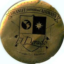 El Dorado ~BRANIFF INTERNATIONAL AIRWAYS~ Unique Metallic Airline Luggage Label