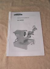Christen Drill Point Grinding Machine Manual