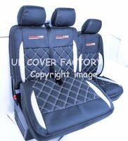 VW Transporter T4  Van Seat Cover NEW Bentley SILVER STITCH  152BK-SV-SV