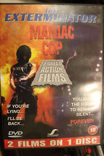 THE EXTERMINATOR & MANIAC COP RARE DELETED HORROR MOVIE DOUBLE BILL FILM UK PAL