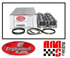 """4.00"""" Bore Coated Flat Top Pistons w/ Rings for 2002-2008 Chevrolet 6.0L"""