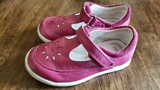 Girls Size 6 (23) Red real Leather First Walkers Shoes flexable soles