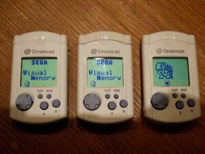3 x (Three) Official Sega Dreamcast VMU Visual Memory Unit HKT-7000 (Tamagotchi)