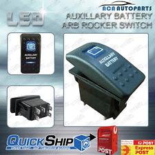 AUXILLARY BATTERY ARB ROCKER SWITCH BLUE LED BACKLIT 4X4 12V/24V Car Boat
