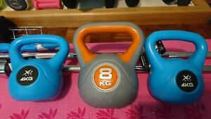 Kettlebell kettlebells Weights Dumbbells Bundle 4 8 16 total bench press gym