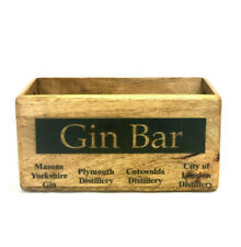 Rustic Vintage Style GIN BAR Bottle Holder Wooden Boxes Crates Decorative