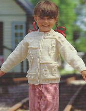 "Girls Cardigan Patchwork Garden Knitting Pattern 20-28"" Aran 407"