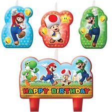 Super Mario 4x Kerzen Topper Torte Figur Geburtstag neu Kerze Kuchen