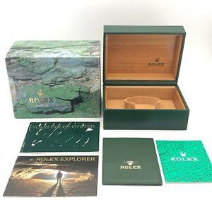 Rolex Genuine Explorer 16570 watch box case 64.00.02 Booklet Card case B0625001