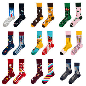 Men Women Cotton Socks Harajuku Food Animal Creative Novelty Funny Crew Socks