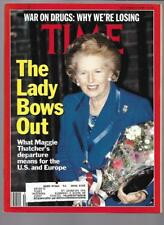 Time Magazine December 3, 1990- Margaret Thatcher, War On Drugs