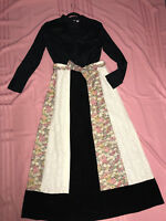 PRAIRIE old west pioneer blouse skirt costume size 10 Victorian black cotton
