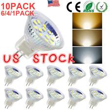 4/6/10 PACK LED MR11 Light Bulbs 3W/5W AC/DC12V-24V GU4 Bi-Pin Base LED bulb US