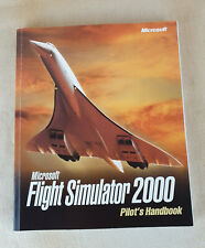 Microsoft Flight Simulator 2000 Pilot's Computer PC Video Game RARE Manual