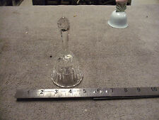 Vintage All Crystal Glass Bell, great tone