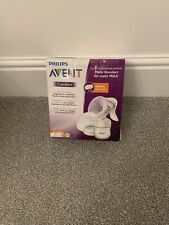 PHILLIPS AVENT COMFORT MANUAL BREAST PUMP WITH 12 FREE PADS / NEW & SEALED