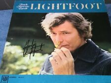 Gordon Lightfoot Signed Autographed Back Here On Earth Record Album LP