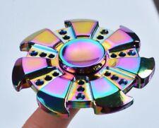 NEW Rainbow Colors Titanium Alloy EDC Hand Fidget Spinner High Speed Focus..