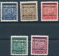 Stamp Germany Bohemia Czech Mi 001-5 Sc 00-5 1940 WWII Fascism MH