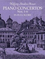 Piano Concertos Nos. 1-6 In Full Score, Paperback by Mozart, Wolfgang Amadeus...