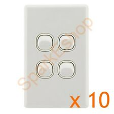 Light Switch (4 gang) Per box of 10 - $1.80 per switch. Aust. Approved