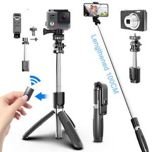 4 in 1 Wireless Bluetooth Selfie Stick Monopods Rotation Remote Self-Pole Tripod