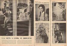 1957 vintage article U.S. Gets a Look at Brigitte Bardot 3pgs many photos 071016