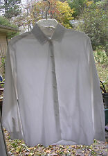 #130 LADIES LOVELY WHITE COTTON  BLOUSE w/ Victorian Inspired Lace Collar Sz M