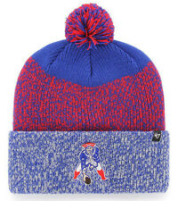 f860233037ec2 NEW ENGLAND PATRIOTS NFL STATIC WINTER  47 KNIT CUFFED POM BEANIE CAP HAT  ...