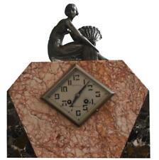 Pendule à poser Art déco 1930 régule et marbre marque Millet