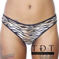Rene Rofe Cotton Spandex Thong - 12206 Tiger Print Panties Underwear 2 Colors