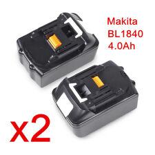 2 x Li-ion Akku BL1830 BL1840 mit 4.0 Ah 18V Neu Batterie Für Makita BL 1840 DE
