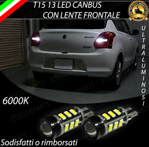 LAMPADE RETROMARCIA 13 LED T15 W16W CANBUS PER SUZUKI SWIFT 5 V 6000K NO ERROR