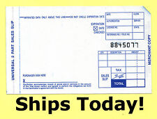 50 Short 2 Part Truncated Credit Card Manual Imprinter Sales Slips Draft Forms