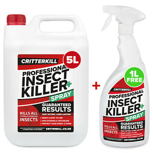 6L INSECT KILLER SPRAY INSECTICIDE BED BUG & HOUSEHOLD PESTS - PRO STRENGTH